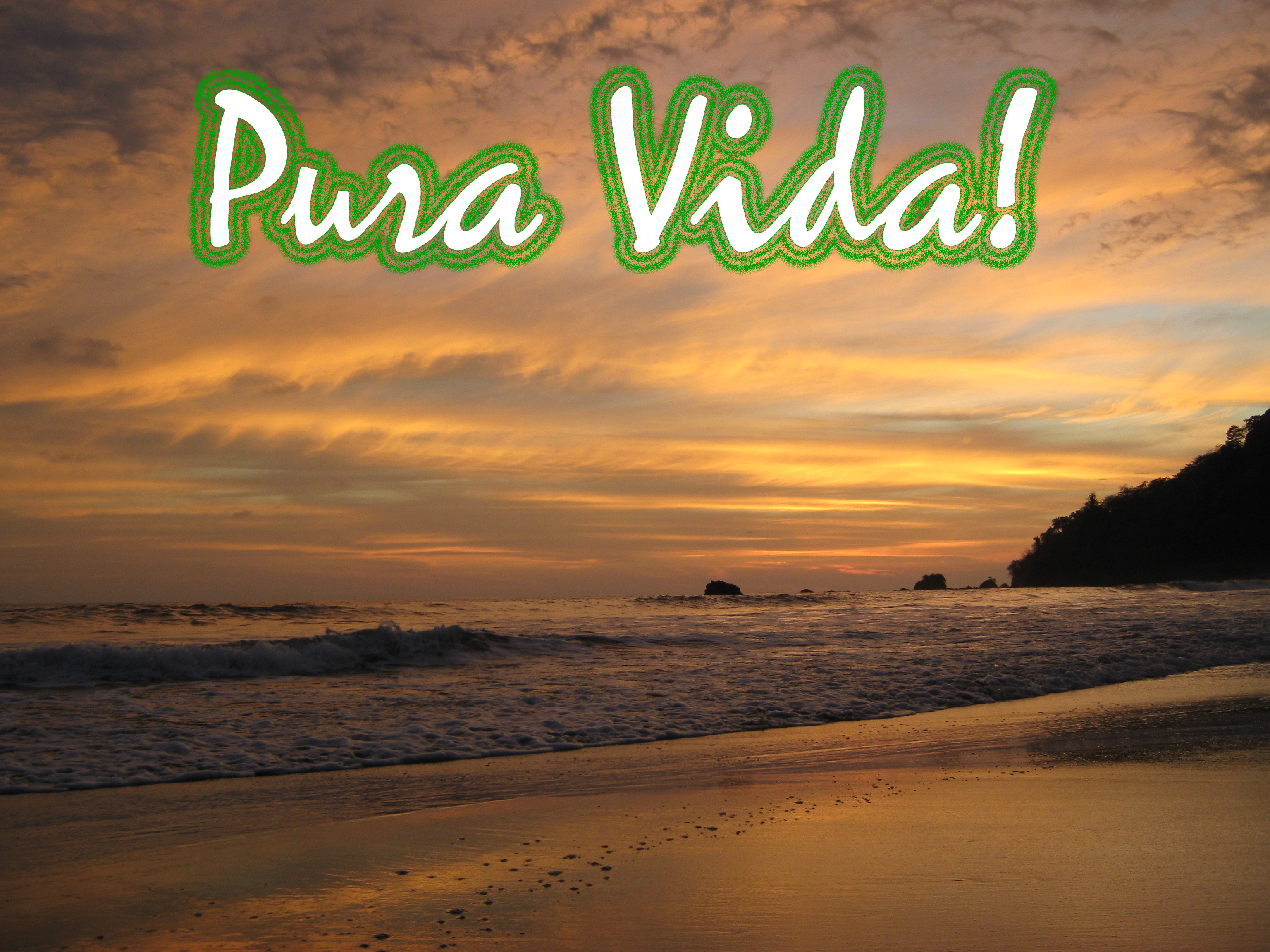 """pura vida """"pura vida"""" would be the answer the most commonly used phrase in costa rica  literally means """"pure life"""", but the saying goes beyond its."""
