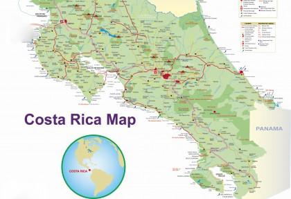 mappa della Costa Rica