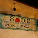 Soda Mediterranea ( cartello su terrazzo) CRNT