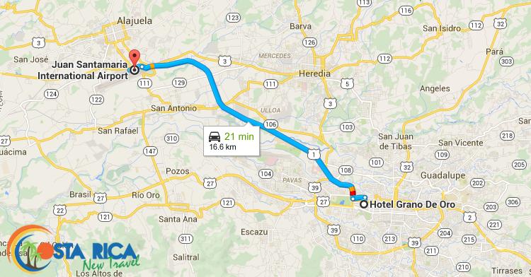 SJO-Airport-Hotel-Grano-de-Oro-mappa-CRNT